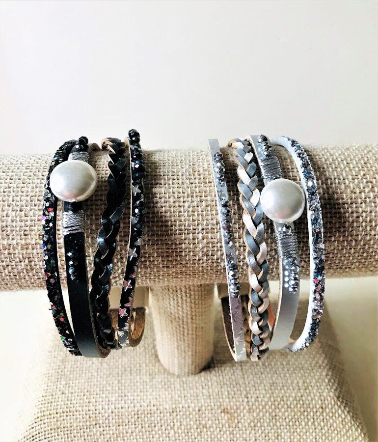 Rokassprādze ar magnētu un pērli