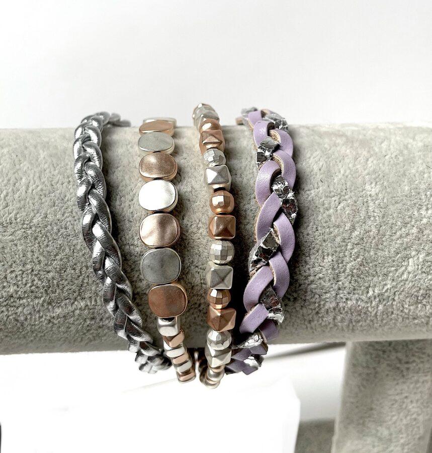 Rokasprādze ar magnētu violeta un oranža