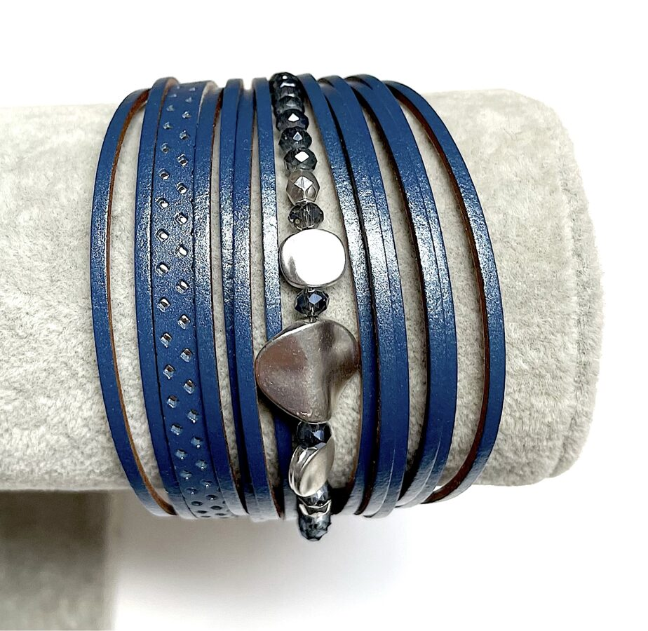 Rokassprādze ar magnētu tumši zila
