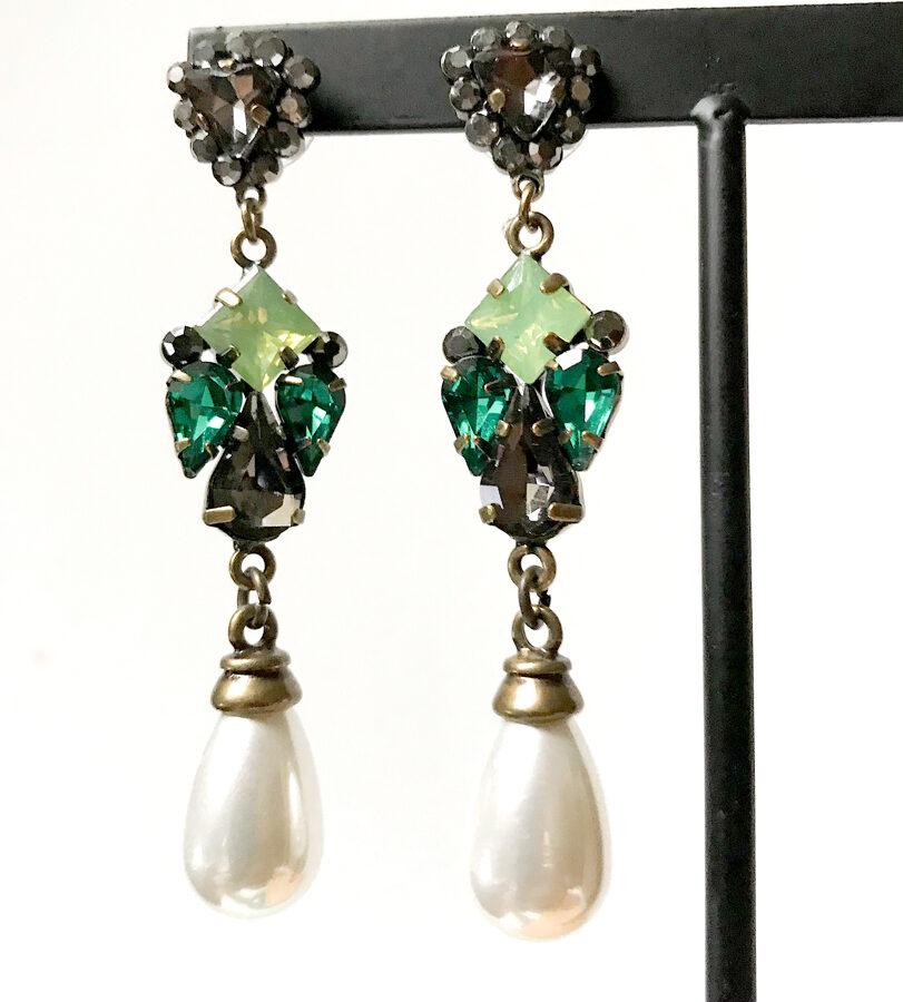 Auskari vintage pērle