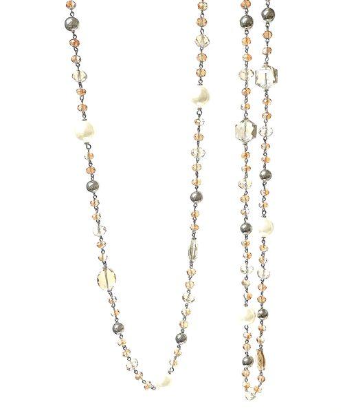 Kaklarota ar pērlēm un stiklu