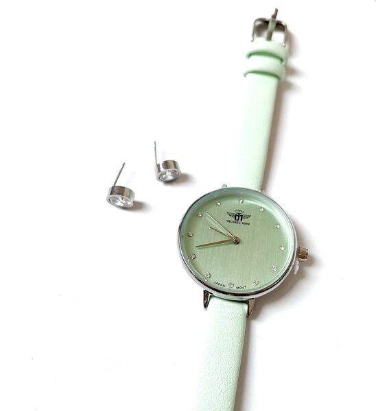 Pulkstenis piparmētras krāsā